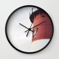 lighthouse Wall Clocks featuring lighthouse by shannonblue