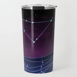Capricorn Zodiac Constellation Design Travel Mug