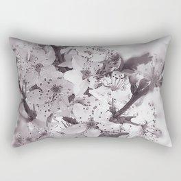 Sour Cherry Tree Black And White Rectangular Pillow