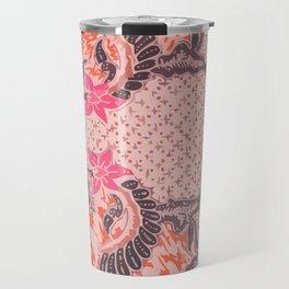 Bali Batik pink orange Travel Mug