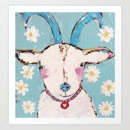goat painting Art Print