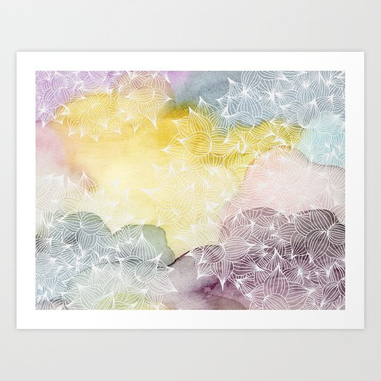 Dreaming in Lotus  Art Print