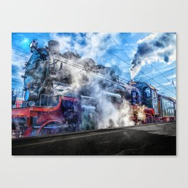 Steam Locomotive (Train) Canvas Print