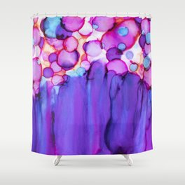Confetti and Tulle Alcohol Ink Painting Shower Curtain