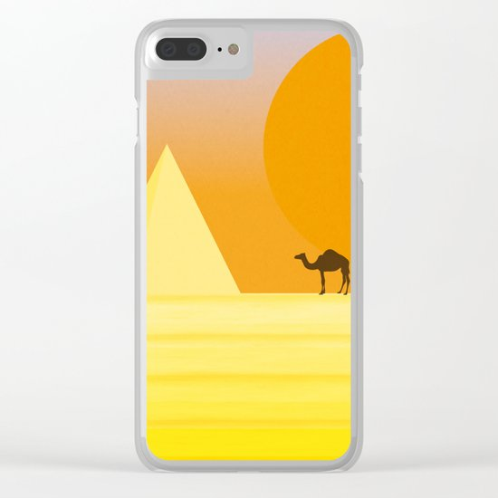 In the desert... Clear iPhone Case