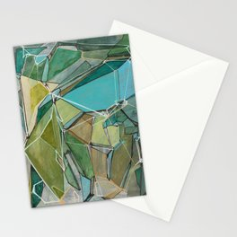 Fracturing Emeralds Stationery Cards