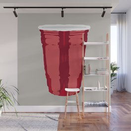 Clarity Cup Red (Big) Wall Mural