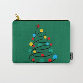 Christmas Tree Minimal Design Art Red Blue Green Carry-All Pouch