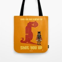 hook Tote Bags featuring HOOK : Huge Hook by SimonCARUSO.com