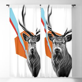 Geometric Stag Blackout Curtain