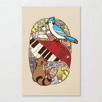 regular show Canvas Prints featuring Regular Show by NaturalPop