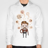 ron swanson Hoodies featuring Ron Swanson by Cody Bond