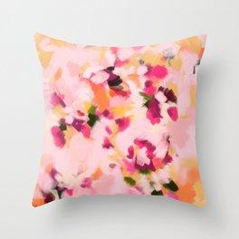 Abstract Floral Petals Throw Pillow