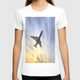 Boeing 747 Sunset  T-shirt
