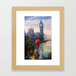 Rain in London Framed Art Print
