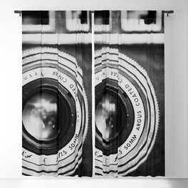 """the """"brick"""" ... a vintage camera photograph in back and white Blackout Curtain"""
