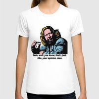 big lebowski T-shirts featuring The Big Lebowski Quotes by Guido prussia