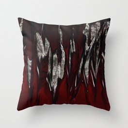 Raging Red Throw Pillow
