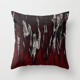 Raging Red Throw Pillow