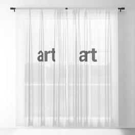 art Sheer Curtain