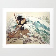 Tsunami Art Print