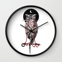 Needle Owl Wall Clock