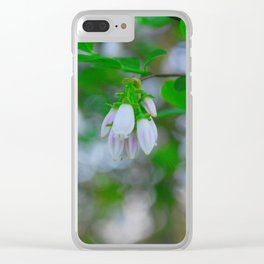 Blueberry Blossoms Clear iPhone Case