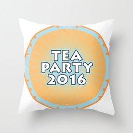 Tea Party 2016 Throw Pillow