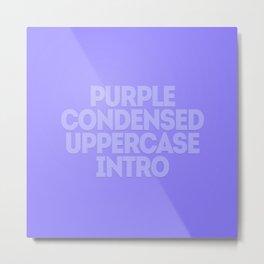 MetaType Purple Metal Print