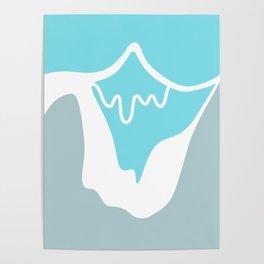 Pastel Peaks Poster