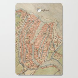 Vintage map of Amsterdam (1560) Cutting Board