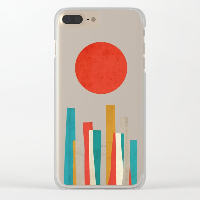 World's Edge Clear iPhone Case