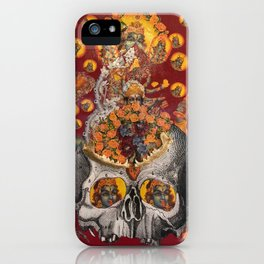 floral fires over scorpio iPhone Case