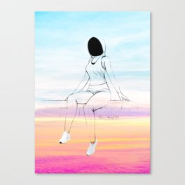 Girls on Wall - 2 Canvas Print