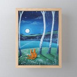 Moon gazers Framed Mini Art Print