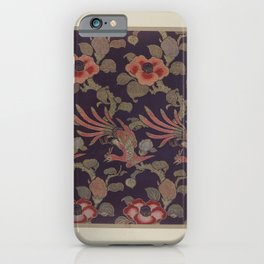 Verneuil - Japanese paper and fabric designs (1913) - 37: Birds and camellias iPhone Case