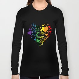 LGBT T-Shirt I Love My Crazy Girlfriend Pride LGBT Gift Long Sleeve T-shirt