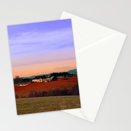Countryside panorama in beautiful sunset colors | landscape photography Stationery Cards