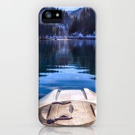 Kayaking in McCloud Northern California iPhone Case