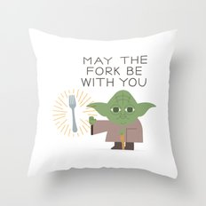 May The Fork be With You Throw Pillow