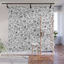Zelda A Collection of Items Pattern Wall Mural