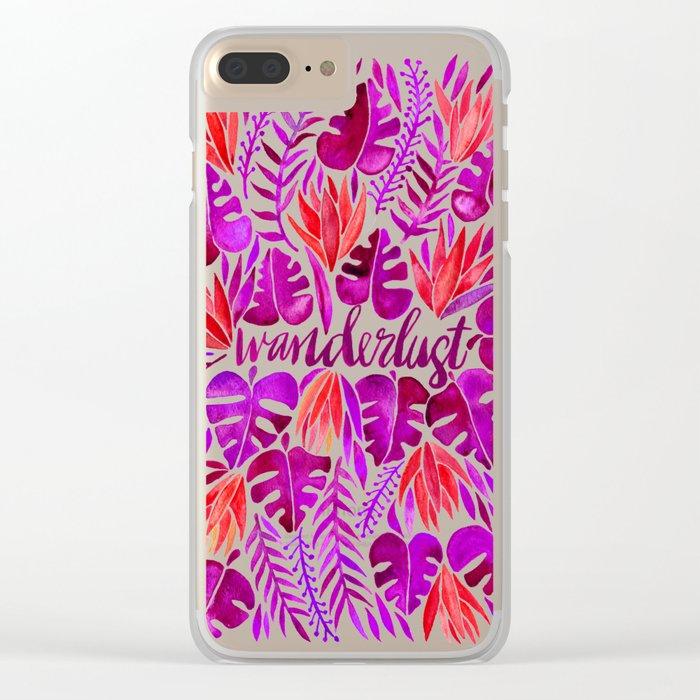Tropical Wanderlust – Magenta Palette Clear iPhone Case