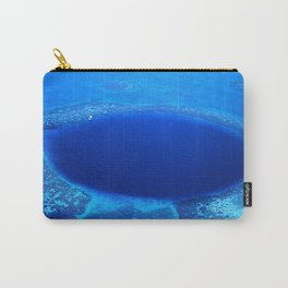 Great Blue Hole Aerial Photo, Belize Carry-All Pouch