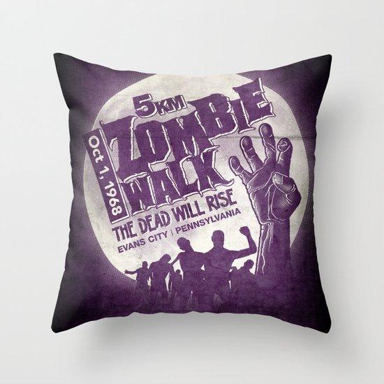 Zombie Walk Throw Pillow