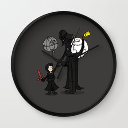 a drawing of a little boy and his grandad Wall Clock