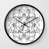matisse Wall Clocks featuring Para Matisse/ To Matisse by Luiza T. Vesey