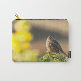 Portrait of a White-Crowned Sparrow Carry-All Pouch