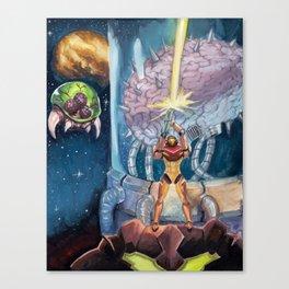 Super Metroid Fan Art Canvas Print