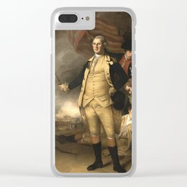 General Washington at the Battle of Princeton Clear iPhone Case