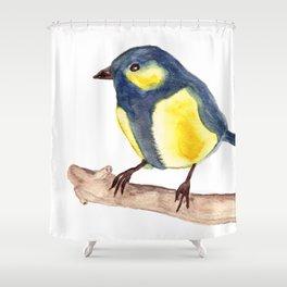 Blue Pinzon Shower Curtain